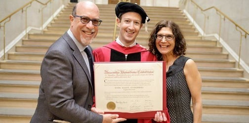 Facebook CEO/Co-founder Mark Zuckerberg pays tribute to his mom after finally graduating from Harvard!