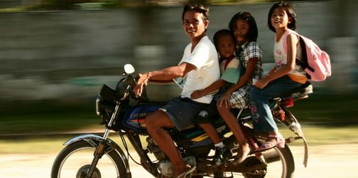 Children below 18 are now banned from boarding motorcycles