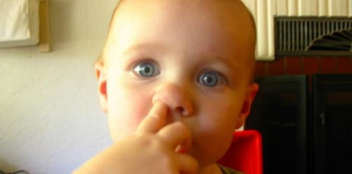 Gross! Eating boogers might boost your kid's immune system