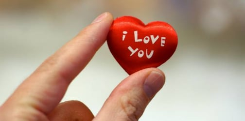 """How can you tell your spouse """"I love you"""" without being too cheesy?"""