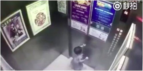 Toddler falls to death in China after being left alone in an elevator