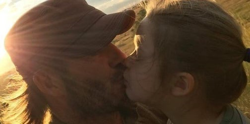 David Beckham defends kissing 5-year-old daughter on the lips