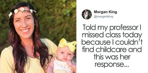 A single mom missed her class and here's what her professor had to say