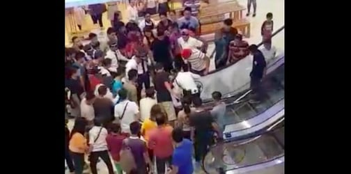 2-year-old's hand gets stuck inside escalator at a mall in Iligan City