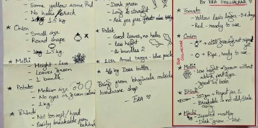 The genius wife behind the shopping list for hubby that went viral!