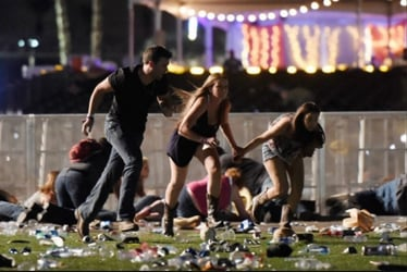 """""""I put my baby on the ground and got on top of her"""": Tales of horror at Las Vegas shooting"""