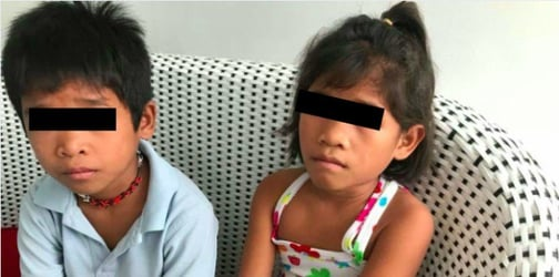 2 Children stuck in Naga after father abandons them