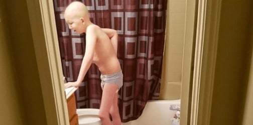 This is what a child's battle against cancer looks like