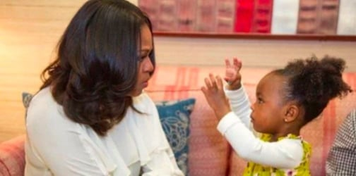 Michelle Obama meets adorable toddler who is her biggest fan