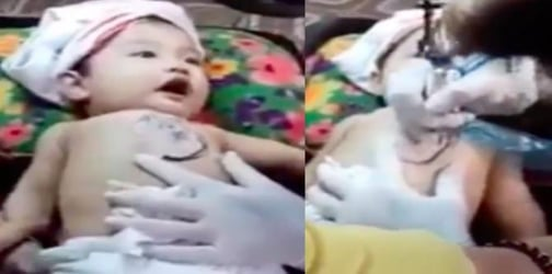Disturbing video of baby getting inked sparks outrage