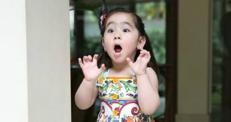 Watch: Scarlet Snow praying for her mom, her dad, and her nanny!
