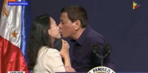 OFW Mom of two speaks up on controversial kiss with Duterte