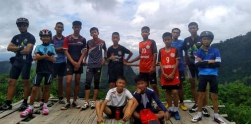 Missing Thai boys and coach found safe in caves