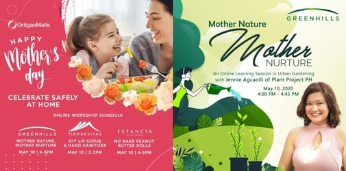 Celebrate Mother's Day in the comfort of your home  with Ortigas Malls
