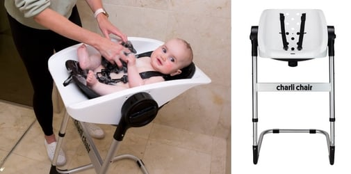 Now there's a chair for newborn bath and moms couldn't be happier!