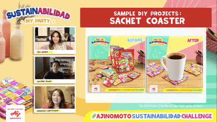 Slater Young and Home Buddies dare Filipinos to have eco-friendlier homes by doing the #AjinomotoSustainAbilidadChallenge