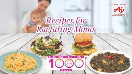 Ajinomoto Shares Special Recipes for Moms in Time for Nutrition Month