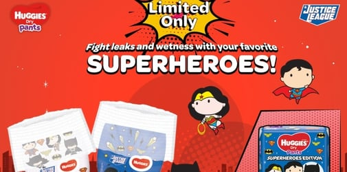 Unleash your baby's superpowers with Huggies' Dry Pants Justice League Limited Edition
