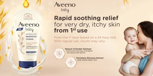 Give your Baby's #Skinmergency the Rapid Soothing Relief it needs with Aveeno Baby
