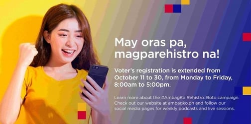 #AmbagKo Rehistro. Boto Campaign Boosts Activities to Spur More Filipinos to Register with Deadline