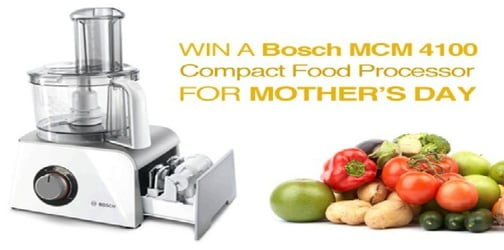 Win a Bosch food processor for Mother's Day!