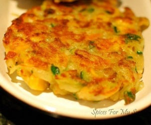 Vegetable fritters for babies