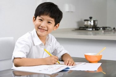 Passing the PSLE exams with flying colours!