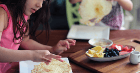 Breakfast Crepes: Making Healthy Foods Into Interactive Meal
