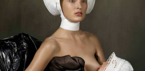 Breastfeeding Vogue Style - is this art or is this creepy?