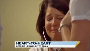 Mum listens to late daughter's heartbeat