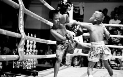 Would you let your child kick and punch for money?