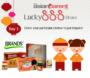 Lucky 8-8-8 Draw 3: Win BRAND'S products for the family worth over $293