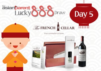 Lucky 8-8-8 Draw 5: Win The French Cellar package worth $308