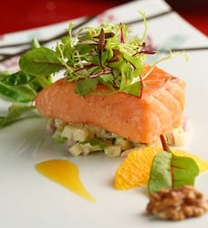 Recipe: Green Apple & Red Onion Salad with Slow-Cooked Salmon