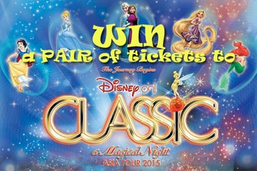 WIN premiere tickets to Disney on Classic ~ A Magical Night ASIA TOUR 2015!