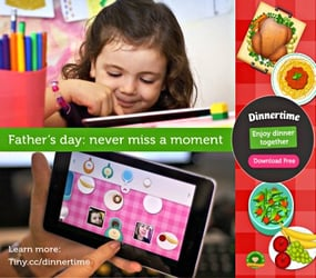 Never miss a precious moment with your kids — Introducing the Dinnertime Kids app!