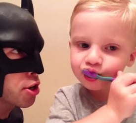 Hillarious video! A day in life with 'BatDad' and his family