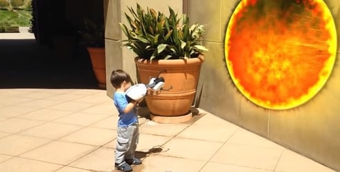 Amazing! Dad turned home videos into an epic action movie!