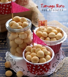 Recipe for Tamago Boro cookies (Egg biscuits)
