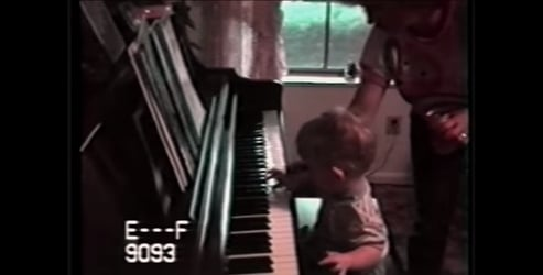 Watch what happens when they place their blind baby in front of the piano!