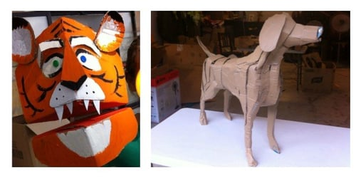 Win tickets to a Cardboard Sculpturing Workshop this Sunday!