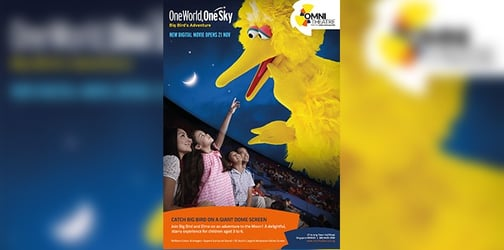 Take a trip this December to the moon with Sesame Street!
