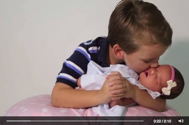 6 brothers welcome home their first ever baby sister
