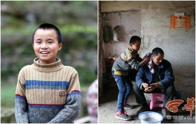 13-year-old Chinese Boy Cares For Blind Parents While Managing School Work