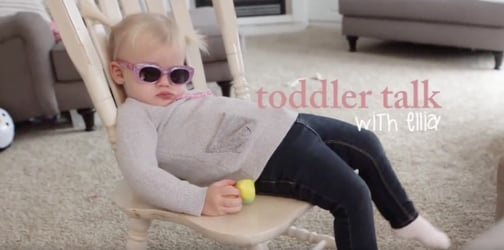 Watch: Two-year-old toddler shows learning words is fun!