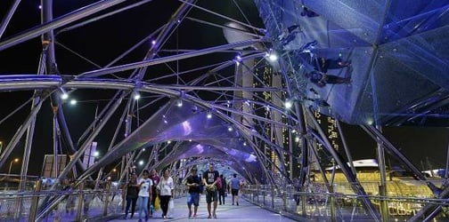 Singapore's iconic structures go blue for World Autism Awareness Day