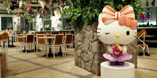 Changi Airport opens world's first 24-hour Hello Kitty Café