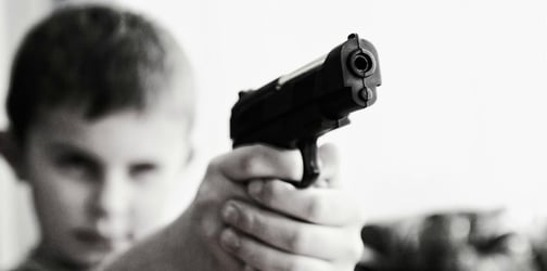 Experts encourage children to play toy guns but some mums skeptic
