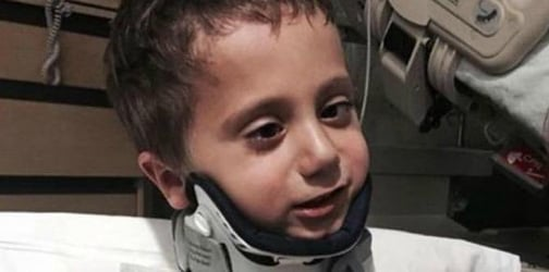 Four-year-old boy survives internal decapitation after car accident