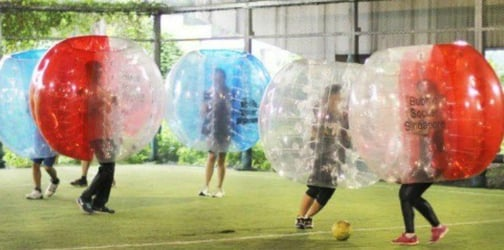 Try the newest sports craze in Bubble Soccer with Cohesion